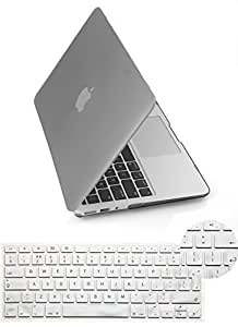 Yarrashop?2 IN 1 Rubberized Matte Hard Shell 13.3 Inch Frosted MacBook Pro Case with Protector EU/UK Version Keyboard Skin Cover For Apple MacBook Pro 13 Without Retina Display (Model: A1278)- Grey by Yarrashop