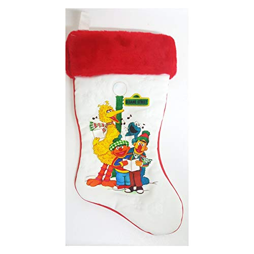 Sesame Street 1980's Vintage Christmas Stocking 1982 Muppets Big Bird Bert Ernie
