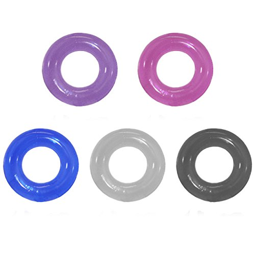 Cock Rings (Pack of 5) - Premium Quality Silicone - Improved Stimulation