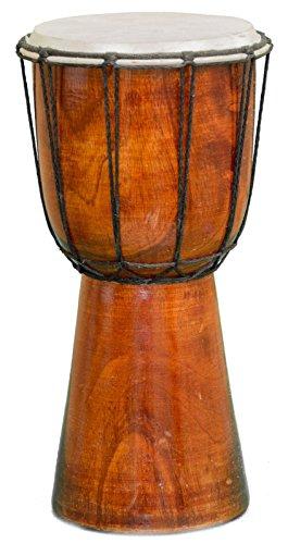 30cm Anfänger Djembe Trommel Bongo Drum Buschtrommel Afrika-Style handgeschnitzt aus Mahagoni Holz Natur Schlicht