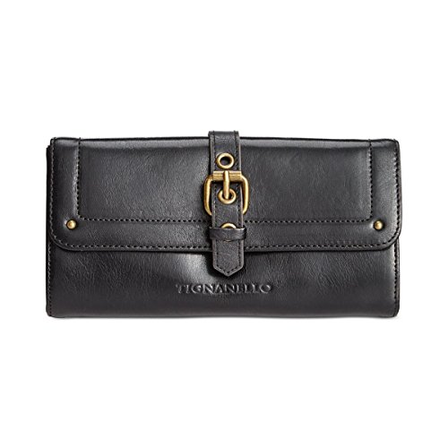 Tignanello Classic Icon Flap Wallet, BLACK, One Size (Tignanello Genuine Leather)
