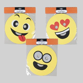 Group Costume Ideas For 6 Adults (Set of 6 Emoji Novelty Halloween Mask! Smiley - (NOT CARDBOARD OR HARD PLASTIC) - 10