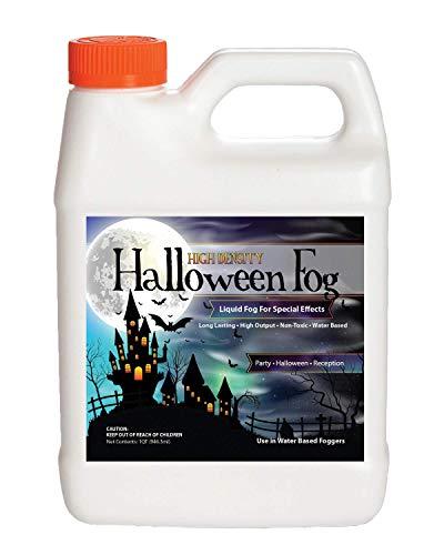Fog Machine Liquid (Sanco Industries High Density Halloween Fog Juice - Extraordinarily Long Lasting, High Output, Water Based Fog Machine Fluid - 1 Quart, 32)