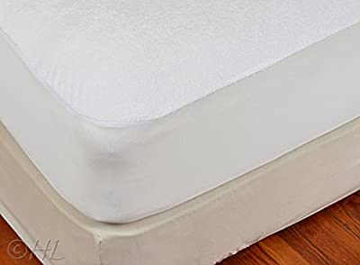 Handy Laundry Mattress Protector, Waterproof, Breathable, Blocks Dust Mites, Allergens, Smooth Soft Cotton Terry Cover. The Premium Mattress Protector Will Surely Increase The Life of Your Mattress.