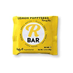 Zesty and refreshing, our Lemon Poppyseed RBar will transport you to the perfect summer day, any time of year. The ideal mix of sweet and tangy, this bar contains only naturally occurring sugars, and is also gluten-free, dairy-free, non-GMO, ...