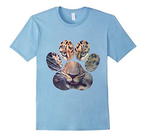 Mens Leopard Eyes Paw Animal Cat Cheetah Lion Tiger Print T-Shirt Medium Baby - Print Cheetah Cats