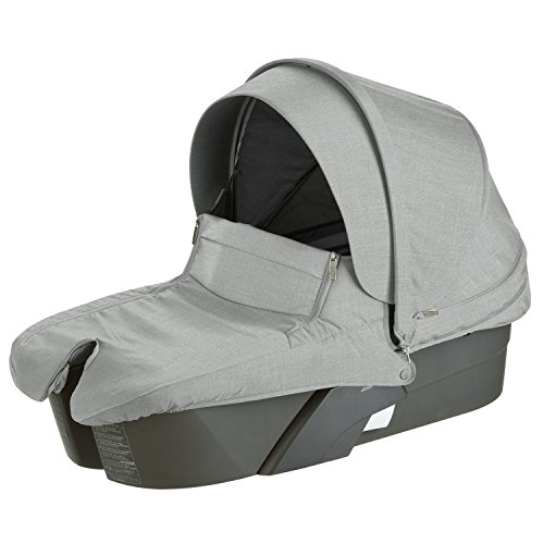 Stokke Xplory Carry Cot Silver, Grey Melange by Stokke