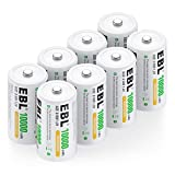 EBL Pack of 8 10000mAh Ni-MH D Cells Rechargeable