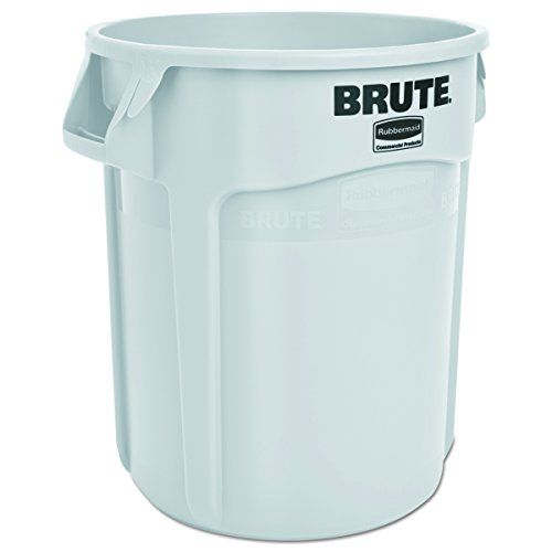 Rubbermaid Commercial RCP 2620 WHI Round Brute Container, Plastic, 20 gal, White -
