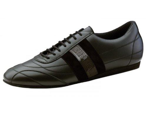 Werner Kern Menns 28033 Sort Skinn / Semsket Sneaker (comfort Line)