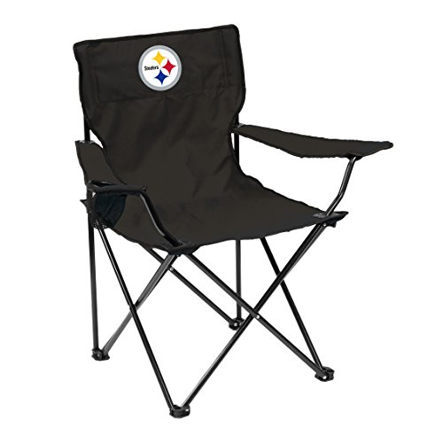 Logo Brands 625-13Q NFL Pittsburgh Steelers Quad Chair, One Size, Charcoal from Logo Brands