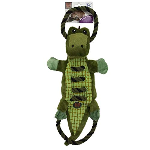 CHARMING Pet Ropes-A-Go Go-Gator Squeaky Dog Toy