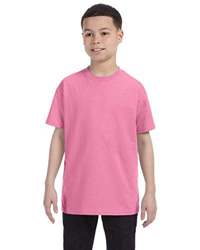 Jerzees Youth Heavyweight BlendT-Shirt - Azalea - S (T-shirt Heavyweight Youth Azalea)