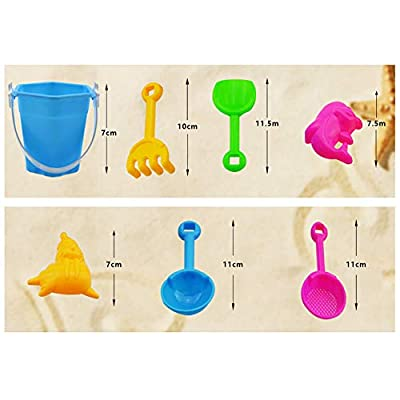 Fenfangxilas Beach Sand Kit, Mini Kids Shovel Rake Bucket Molds Garden Sandpit Play Toy, Pack of 7 Random Color 7pcs: Garden & Outdoor