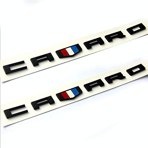 Camaro Nameplate - Vestian (CV) 2 Pair Black CAMARO Fender Side Door EMBLEMS Badge Nameplate For Chevy CAMARO GM RS SS ZL1 (Black)