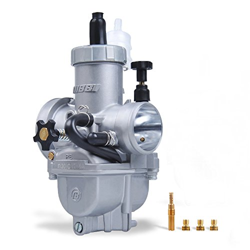 NIBBI RACING PARTS NIBBI Racing Performance 30mm Motorcycle Carburetor GY6 Carburetor 200CC Dirt Bike Carburetor Kit With Carburetor Jets Fit KAYO Apollo Dirt Bike Mini Bike SSR TTR GY6 Scooter Moped (Sliver, 30mm) price tips cheap
