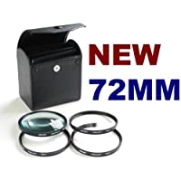NEEWER® 4pc Round Close-Up Macro Zoom Lenses for All 72mm Camera Brands