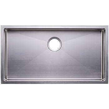 Bai 1248 33 shallow handmade stainless steel kitchen sink single bai 1248 33 shallow handmade stainless steel kitchen sink single bowl under mount 16 workwithnaturefo