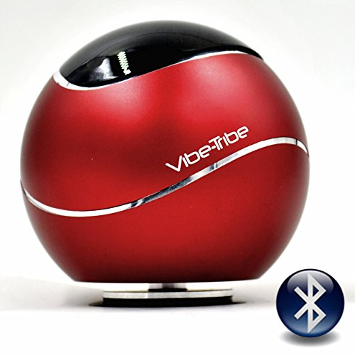 Vibe-Tribe Orbit Ruby Red: 15 Watt Bluetooth Vibration Speaker with Hands Free by Vibe-Tribe