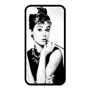 Custom Audrey Hepburn Back case for iphone4,4S JN4S-382