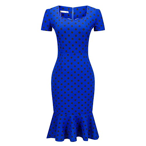 Fast Delivery Dresses Australia (Zhaoyun Womens Official Optical Illusion Short Sleeve Business Cocktail Dress-XL)