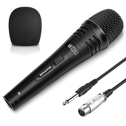 (TONOR Dynamic Karaoke Microphone for Singing with 4.5m XLR Cable, Metal Handheld Mic Compatible with Karaoke Machine/Speaker/Amp/Mixer for Karaoke Singing, Speech, Wedding, Stage and Outdoor Activity)