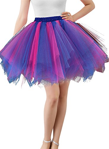 [Wedtrend Women's 50s Vintage Petticoat Tutu Ballet Bubble Skirt Party Occasion Accessory (25 Colors)] (Girls Pink 1950s Rock N Roll Costume)