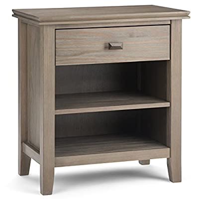 Simpli Home Acadian Solid Wood Bedside Table