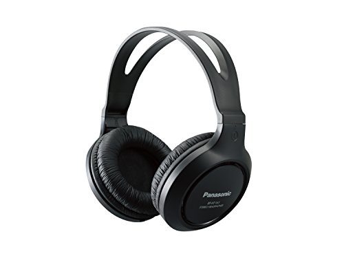 Panasonic Full-Sized Lightweight Long-Cord Headphones – Black (RP-HT161-K)