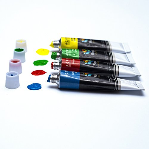 Royal art supplies acrylic paint set 12 x 12 ml for for Acrylic mural paint supplies