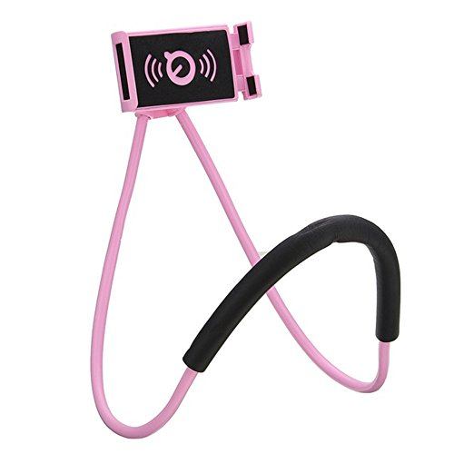 Yanqueens Cell Phone Holder Lazy Mobile Phone Mount Stand Universal Lazy Bracket Hanging On Neck DIY Free Rotating for Multiple Functions