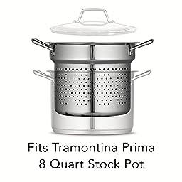 Tramontina Prima 8 Quart 18/10 Stainless Steel Pasta Insert