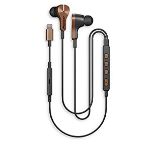 Pioneer Rayz Plus Smart Noise Cancelling Earphones - Talk while charge, only Earbuds with Apple 2nd generation Lightning Audio Technology, Bronze