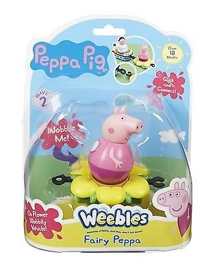 Character Options Peppa Pig Weebles Mini Vehicle and Figure Fairy Peppa