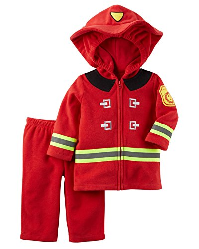 Carter's Baby Boys Firefighter Costume, Red, 18 Months (Baby Girl Monkey Costume)