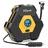 Xflyee Portable Air Compressor Pump, Auto Digital Tire Inflator, 12V 150 PSI Tire