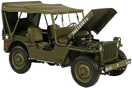 Willys Jeep cerrado US Army ejército 1941 verde oliva maqueta de coche 1:18 Welly