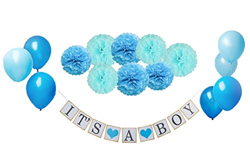 Baby Shower 21 piece set decoration for a 1 banner