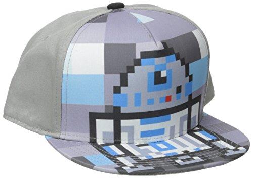 Star Wars Boys' R2D2 Flat Brim Cap, Gray, One Size (R2d2 Hat)