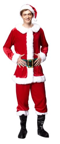 Extra Large Santa Boot Top (HGM Costume Men's Santa Claus, Red/White/Green, Large)
