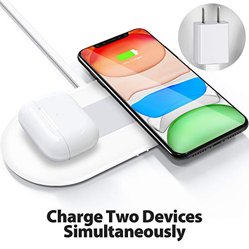 FutureCharger Wireless Charger, Dual Wireless Charging Pad, Wireless Charger Station for iPhone 12/12Pro/11/11 Pro Max…