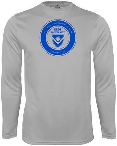 CollegeFanGear ECPI Performance Platinum Longsleeve Shirt ECPI University Seal