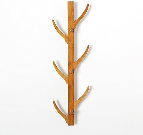 ZEMIN コートラック 壁掛けコートラックハンガー帽子スタンド服ツリーホルダー装飾マルチフック竹、ログカラー、2サイズあり (サイズ さいず : 78*25*13CM)