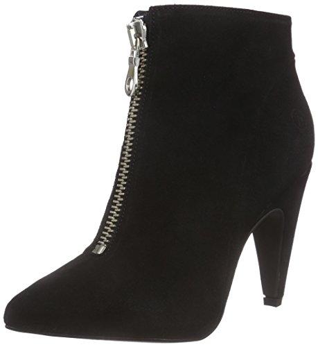 de cuero mujer 01 Schwarz negro bajo botas caño de Bronx black BcorvoX wCqfXX