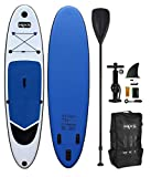 HIKS Navy Big Blue 10.6ft / 3.2m Stand Up Paddle SUP Board Set Inc Paddle, Pump, Backpack & Leash Suitable all Abilities Ideal Beginners Inflatable Paddleboard Kit