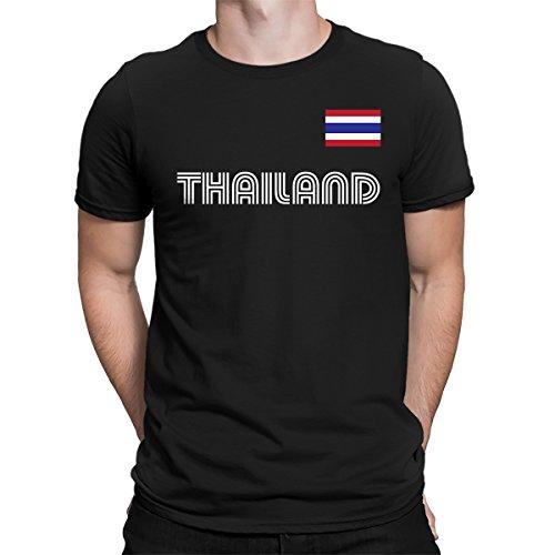 SpiritForged Apparel Thailand Soccer Jersey Men's T-Shirt, Black - Soccer Thai Jersey