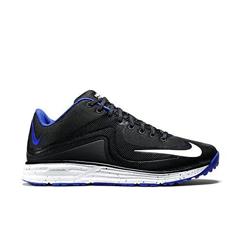 Nike Men's Lunar MVP Pregame 2 Baseball Training Shoe Black/Rush Blue Size 11 M US