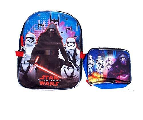 Disney Star Wars Kylo Ren and Stormtroppers Backpack with Lunch Box,, -