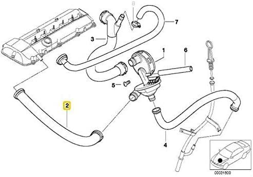 Tuyau de ventilation de carter pour 3//5//7//X3//X5//Z3//Z4//97-06 7533398 OEM