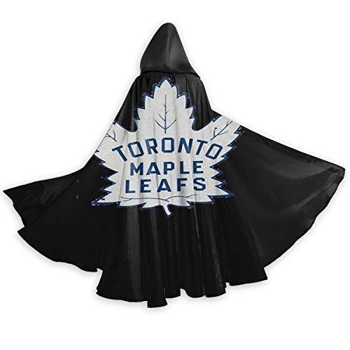 Halloween 2019 Toronto (Adult Cloak for Halloweenn Hockey-Logo-Toronto-Maple-Leafs Unisex Long Robe Halloween Costume Uniform Cloak Cape)